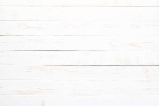Top view of white wood texture background, wooden table.