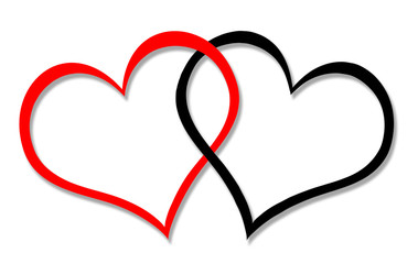 Red and black hearts