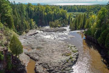Panoramic View of Gooseberry Falls in Minnesota