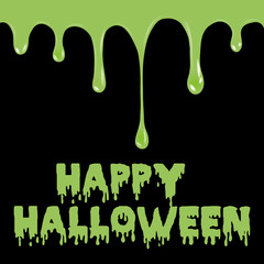 Happy Halloween background with splash. Vector.