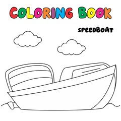 speedboat coloring page, transportation coloring book