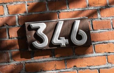 Hausnummer 346
