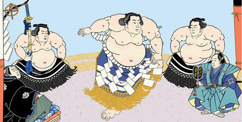 相撲絵 不知火光右エ門 横綱土俵入 浮世絵 歌川国貞