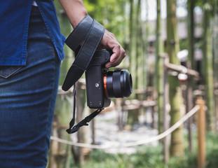 traveler with camera