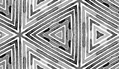 Black and white Geometric Watercolor. Creative Sea
