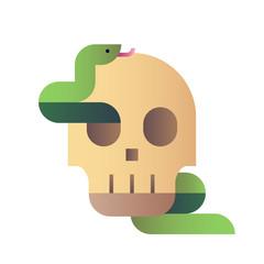 Skull snake gradient illustration