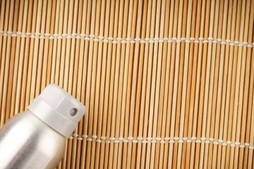 Deodorant for men on color wooden background
