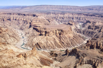 Fish River Canyon in the dry season, Africa, Namibia