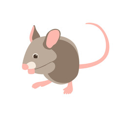 cartoon mouse vector illustration flat style  profile