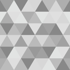 Abstract polygon grey graphic triangle seamless pattern.