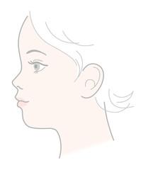 子供 横顔  頭部