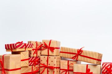 Christmas gift box on tablet