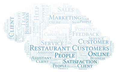 Restaurant Customers word cloud.