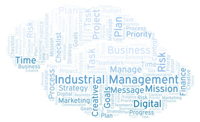 Industrial Management word cloud, made with text only.