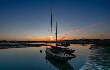 Yachts at Bembridge Harbour, Isle of Wight, England