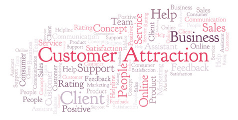 Customer Attraction word cloud.