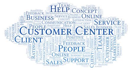 Customer Center word cloud.