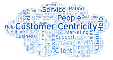 Customer Centricity word cloud.