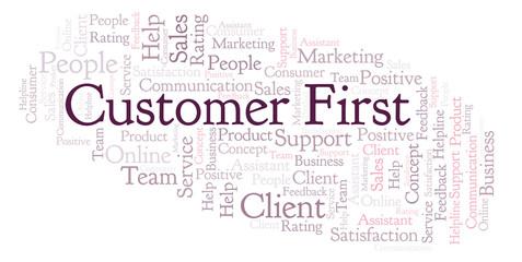 Customer First word cloud.