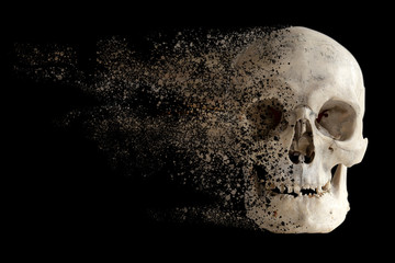 The effect of the destruction of the sandstorm of the human skull