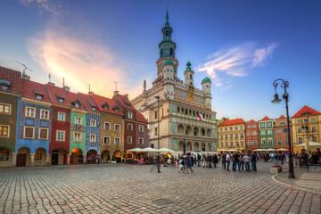 Architecture of the Main Square in Poznan, Poland. Fototapete