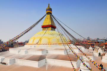 Boudhanath Stupa, the largest stupa in Nepal, Kathmandu.