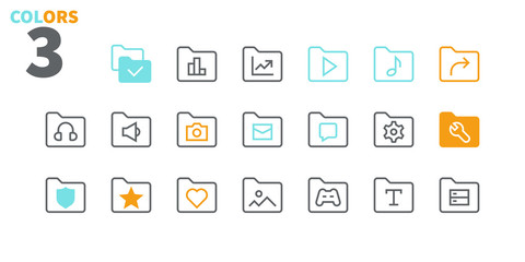 Folder UI Pixel Perfect Well-crafted Vector Thin Line Icons 48x48 Ready for 24x24 Grid for Web Graphics and Apps with Editable Stroke. Simple Minimal Pictogram Part 3-4