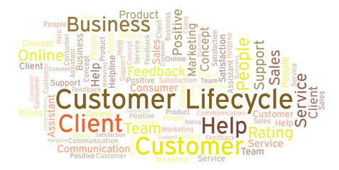 Customer Lifecycle word cloud.