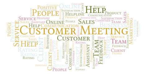 Customer Meeting word cloud.
