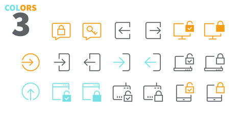 Login UI Pixel Perfect Well-crafted Vector Thin Line Icons 48x48 Ready for 24x24 Grid for Web Graphics and Apps with Editable Stroke. Simple Minimal Pictogram Part 3-3