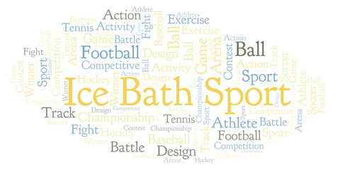 Ice Bath Sport word cloud.