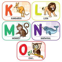 Animal Alphabet K L M N O