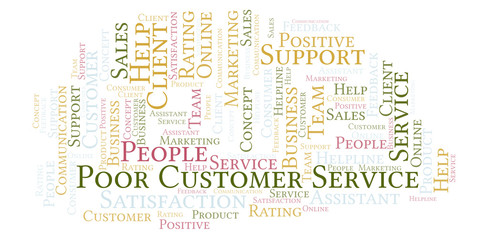 Poor Customer Service word cloud.
