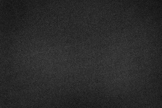 Black foam texture background. Blank rubber structure.