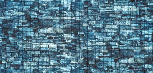 Texture of bricks, cobblestones, background, panorama.