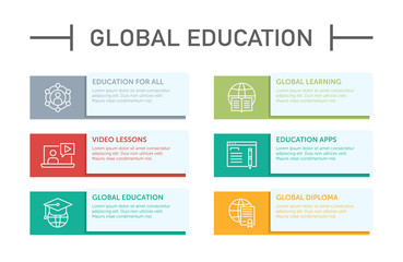 Global Education Infographic Icons