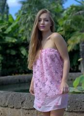 Rosa Sommer Kleid
