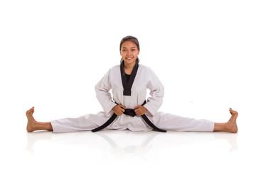 Taekwondo girl split