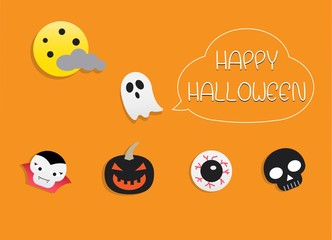 Happy Halloween Night and Monster Background