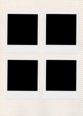 Isolated empty photo frame. Blank photo white frame.