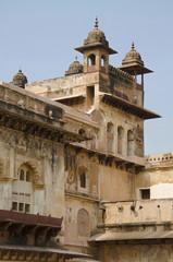 Interior view of Raj Mahal. Orchha Palace Fort Complex. Orchha. Madhya Pradesh.