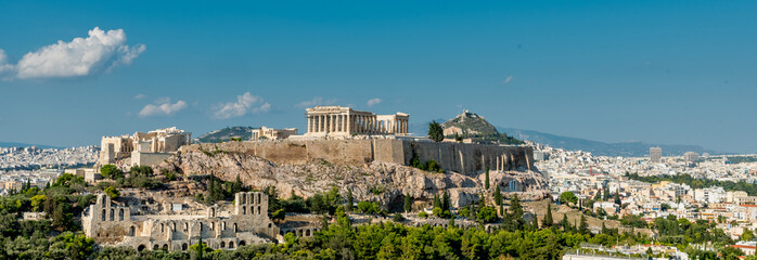 Autocollant pour porte Athenes The Parthenon, Acropolis and modern Athens