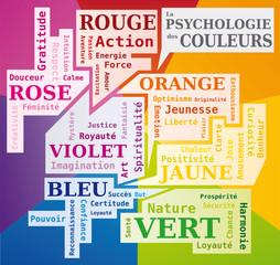 Psychologie des Couleurs - Nuage de Mots en Français - Signification des Couleurs - Outil