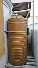 Rainwater storage tank in drought ridden area
