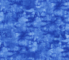 a9e00ab0 Seamless pattern, abstract tie dyed fabric of indigo color on white cotton.  Hand painted