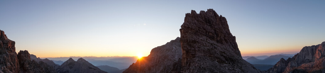 Idyllic sunrise in Adamello Brenta National Park, South Tyrol / Italy