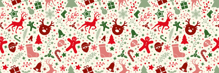 Design of Christmas background with ornaments. Vector.