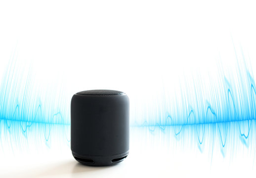Smart speaker isolated on white