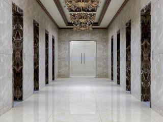 Fototapeta Elevator corridor in the luxury hotel lobby obraz