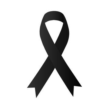 Awareness black ribbon. Melanoma & skin cancer